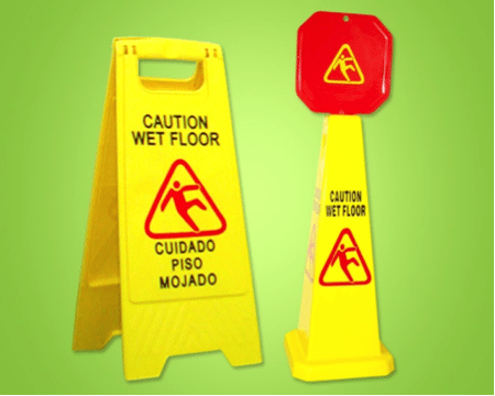 caution wet floor signs